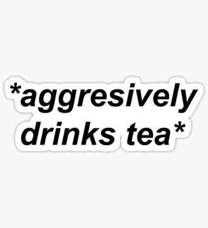 Cactus Stickers Words Quotes Drinking Tea