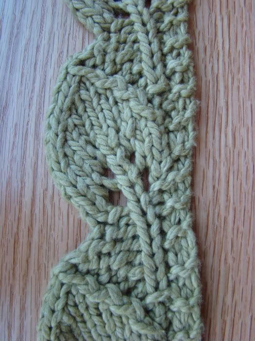 leaf scarf pattern...this is a knit pattern but I think I found one ...
