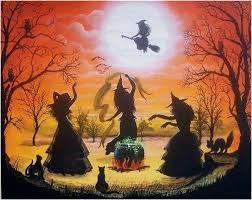 Image result for samhain spells | Halloween painting, Witch pictures,  Halloween prints