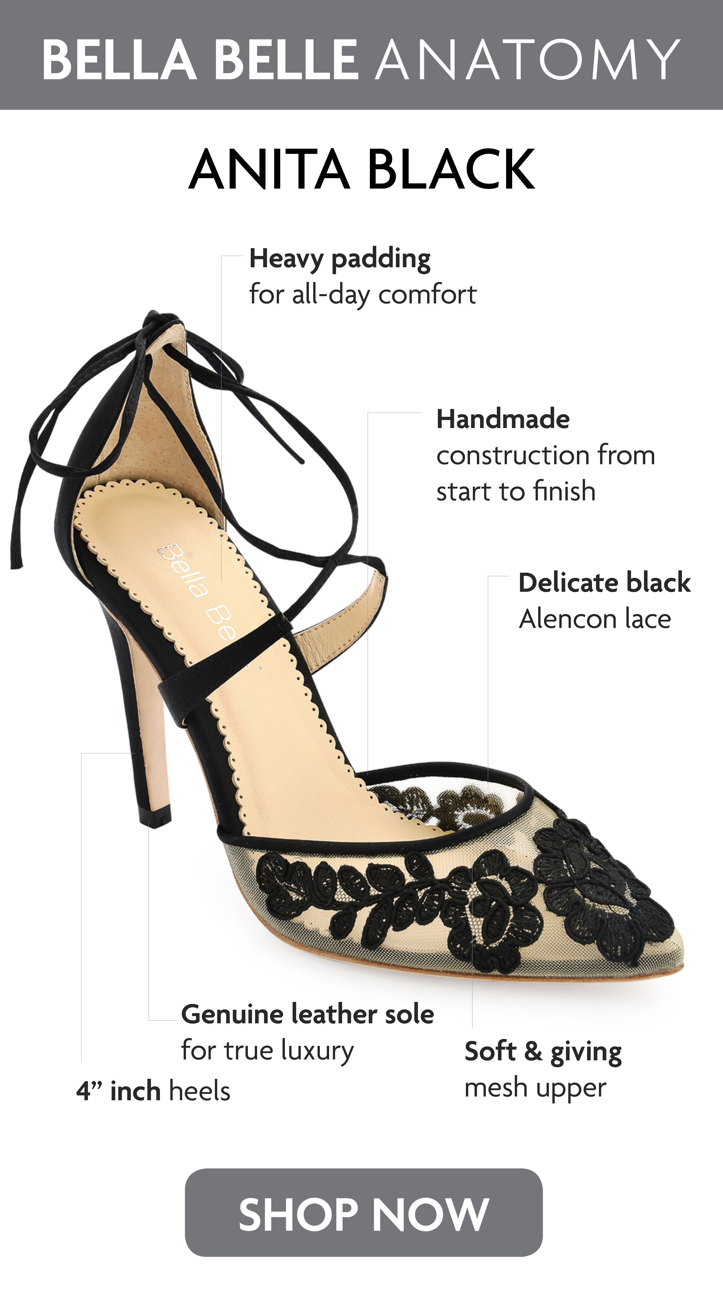 Ankle Wrap Lace Evening Shoes in 2020