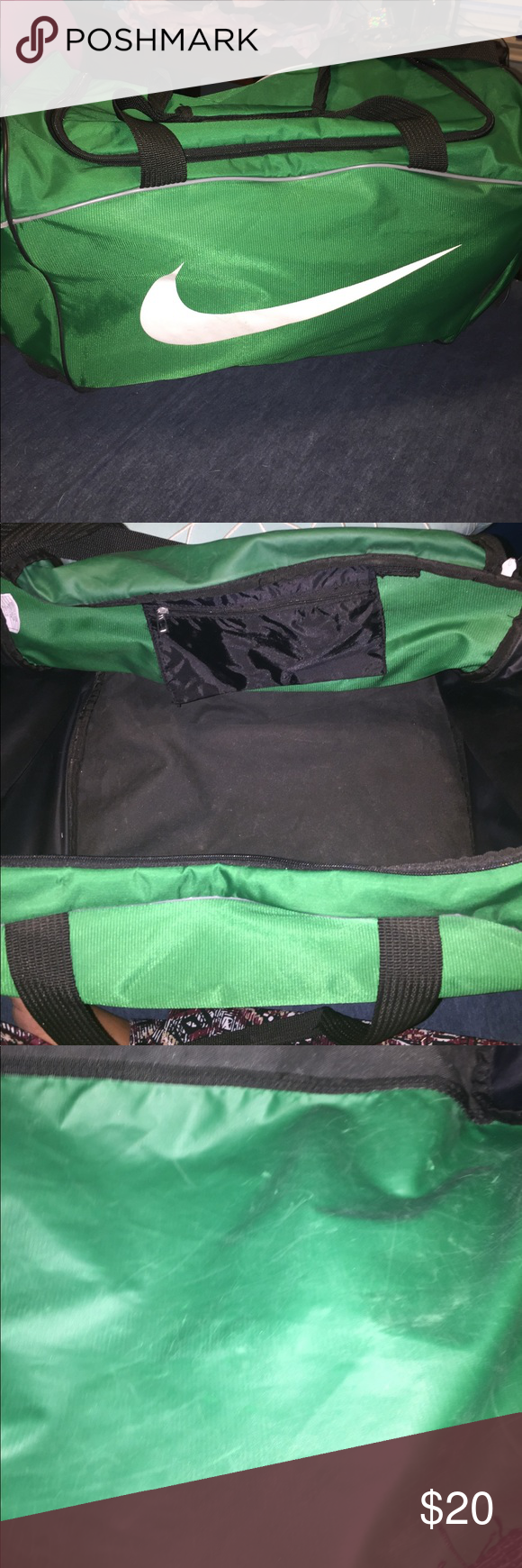 LARGE NIKE DUFFLE BAG NIKE brand bag. This is a large bag with no rips 76f41c26c8