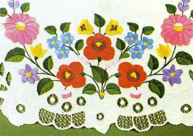 The Textile Blog Hungarian Flower Embroidery My Roots Pinterest