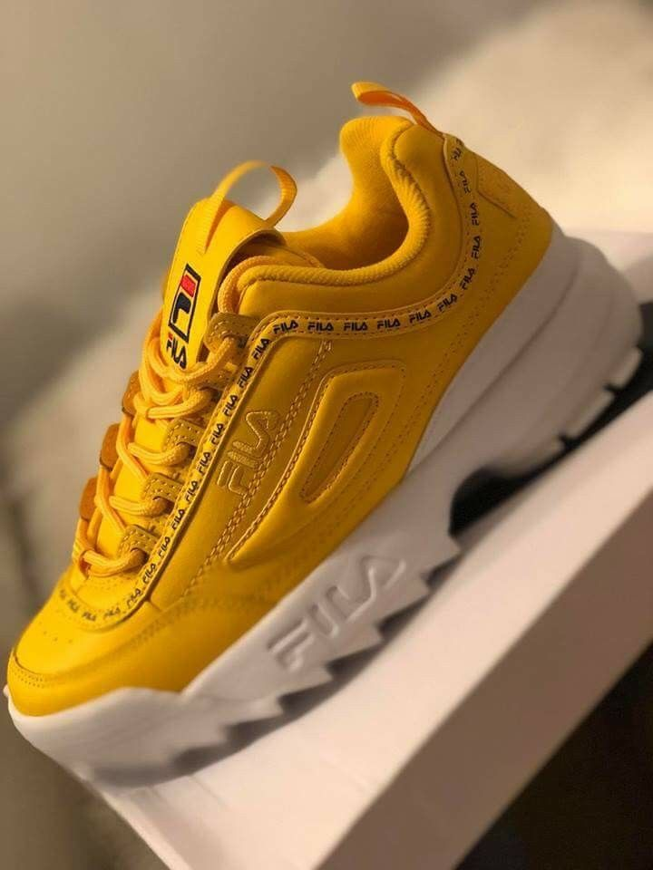Fila amarelo | ❥ S H O E S em 2019 | Tenis sapato, Sapatos