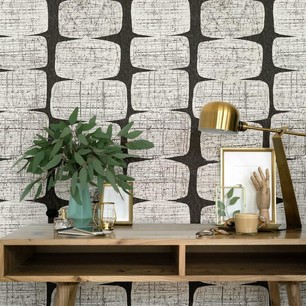 Mid Century Beads Peel And Stick Wallpaper In 2021 Modern Wallpaper Accent Wall Mid Century Modern Wallpaper Modern Wallpaper