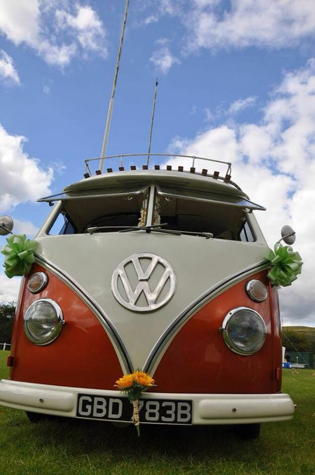 Tallulah vw camper at Wedfest on rugby pitch