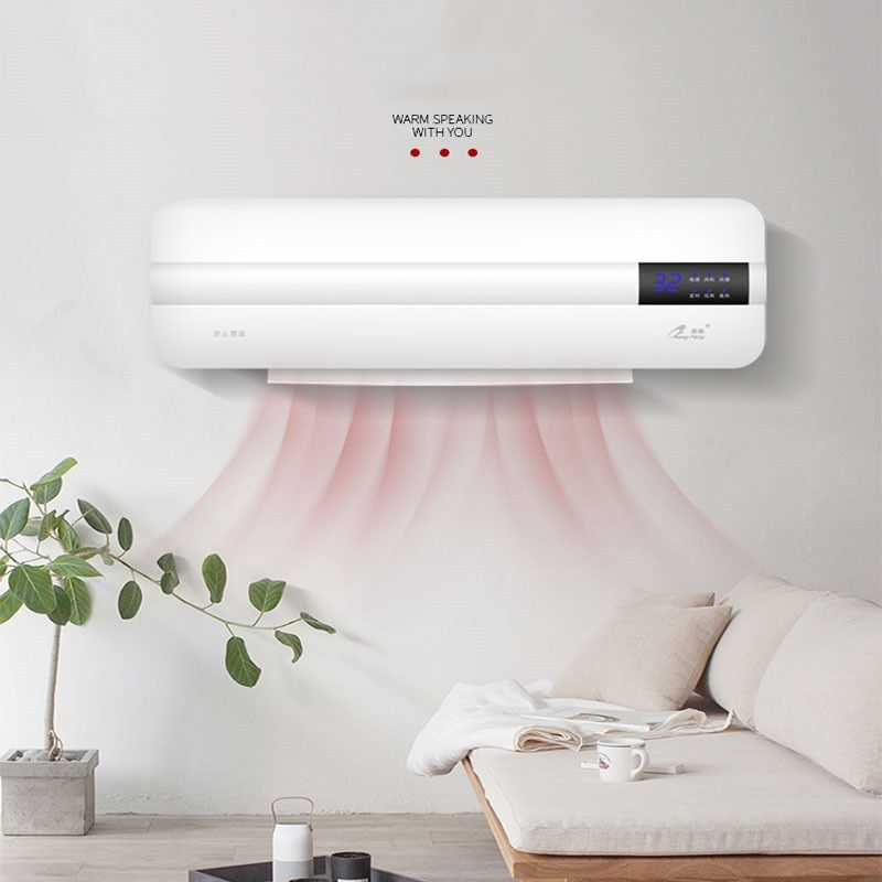 Energy Saving Wall Mounted Air Conditioner Heating Fan Home Dormitory Timing Free Installation Rem Wall Mounted Air Conditioner Floating Nightstand Save Energy