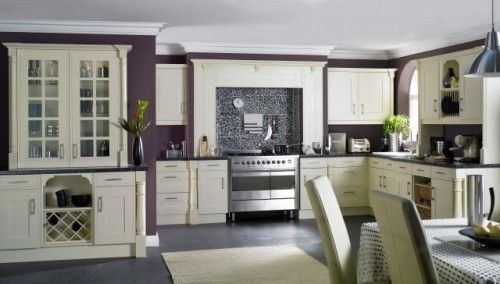 contemporary kitchen by Celia James: More Eggplant paint