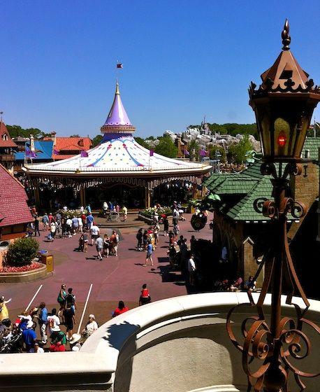 Charming carousel in the Magic Kingdom Fantasyland.