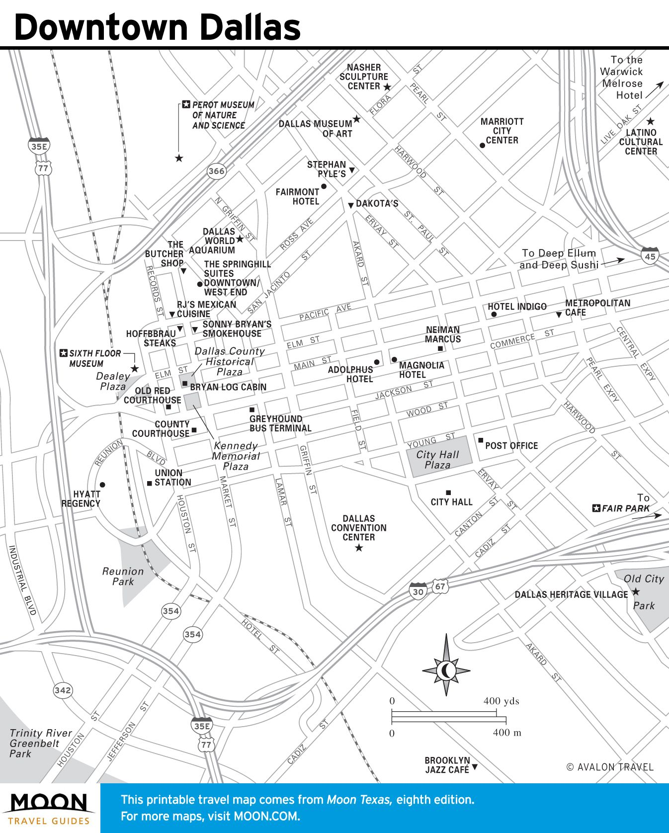 Printable Travel Maps Of Texas Maps Texas And Dallas - Map of houston hotels downtown