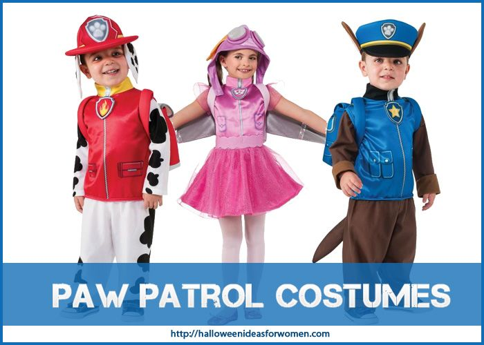Paw Patrol Costumes are just the perfect dress up outfits for  your children! http://halloweenideasforwomen.com/paw-patrol-costumes/