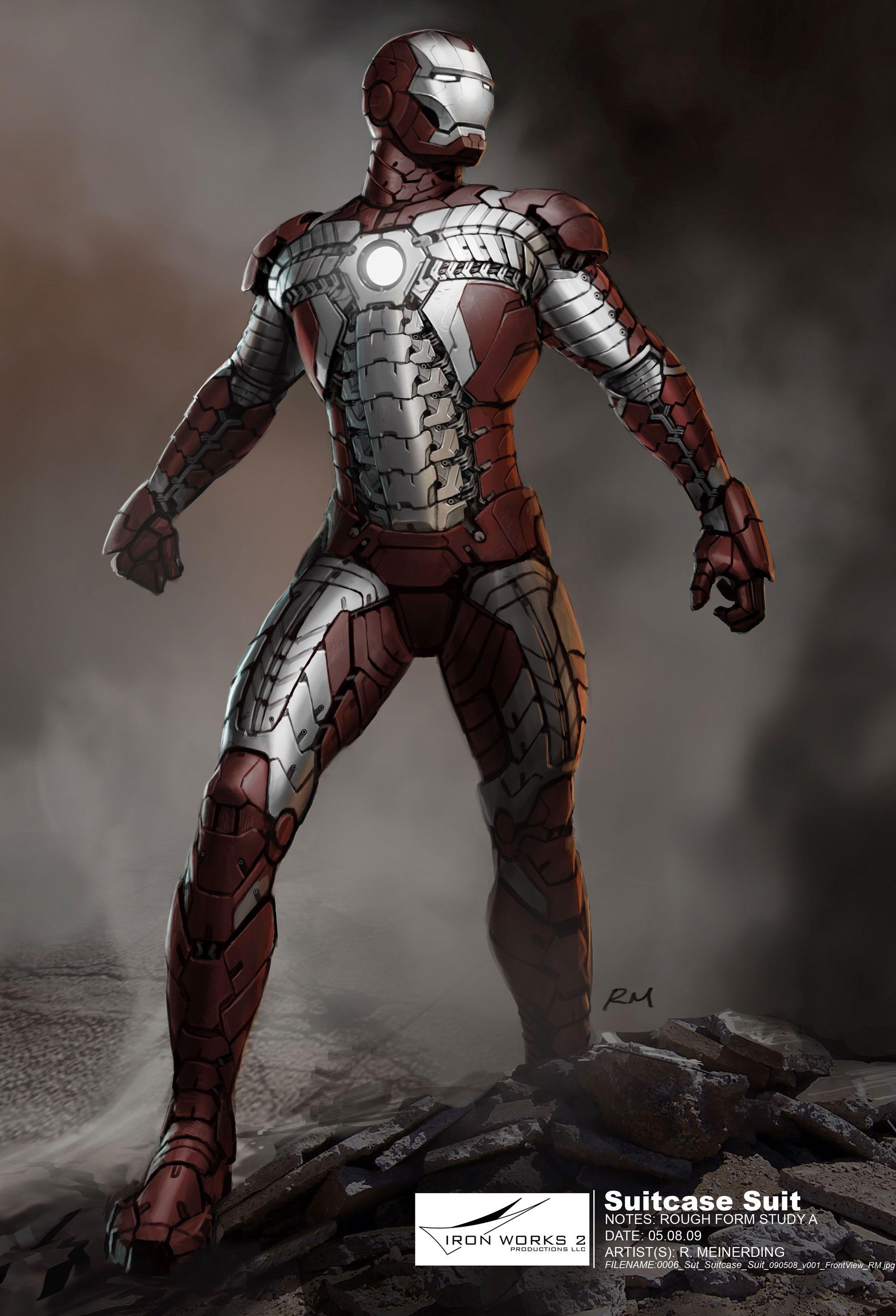 Design Secrets Of Iron Man 2 Suitcase Armor Whiplash And Crazy Improv Iron Man Armor Iron Man Artwork Iron Man Art
