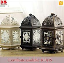 Molded Glass Home Decorative Metal Hanging lanterns