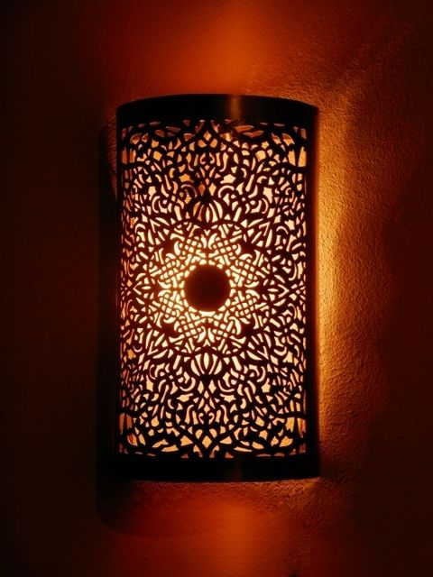 Wall Sconces Moroccan : Moroccan wall light, sconce and its delicate openwork rose pattern. Moroccan Decor Light up my ...