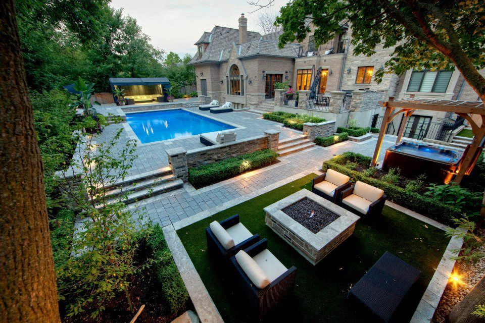 Artificial Grass for Commercial Landscape Pool Design | EasyTurf ...