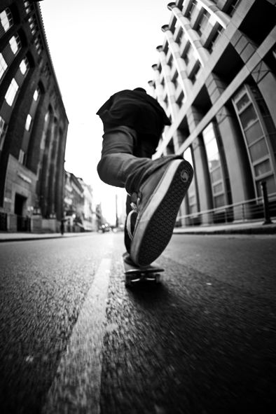 low view looking up makes for an interesting angle, where the shoe is the main f...