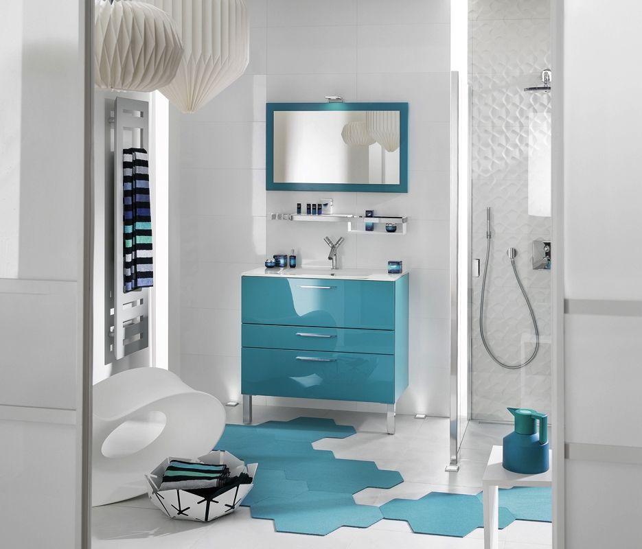 Les 65 meilleures images à propos de Déco SdB sur Pinterest - salle de bain en bleu