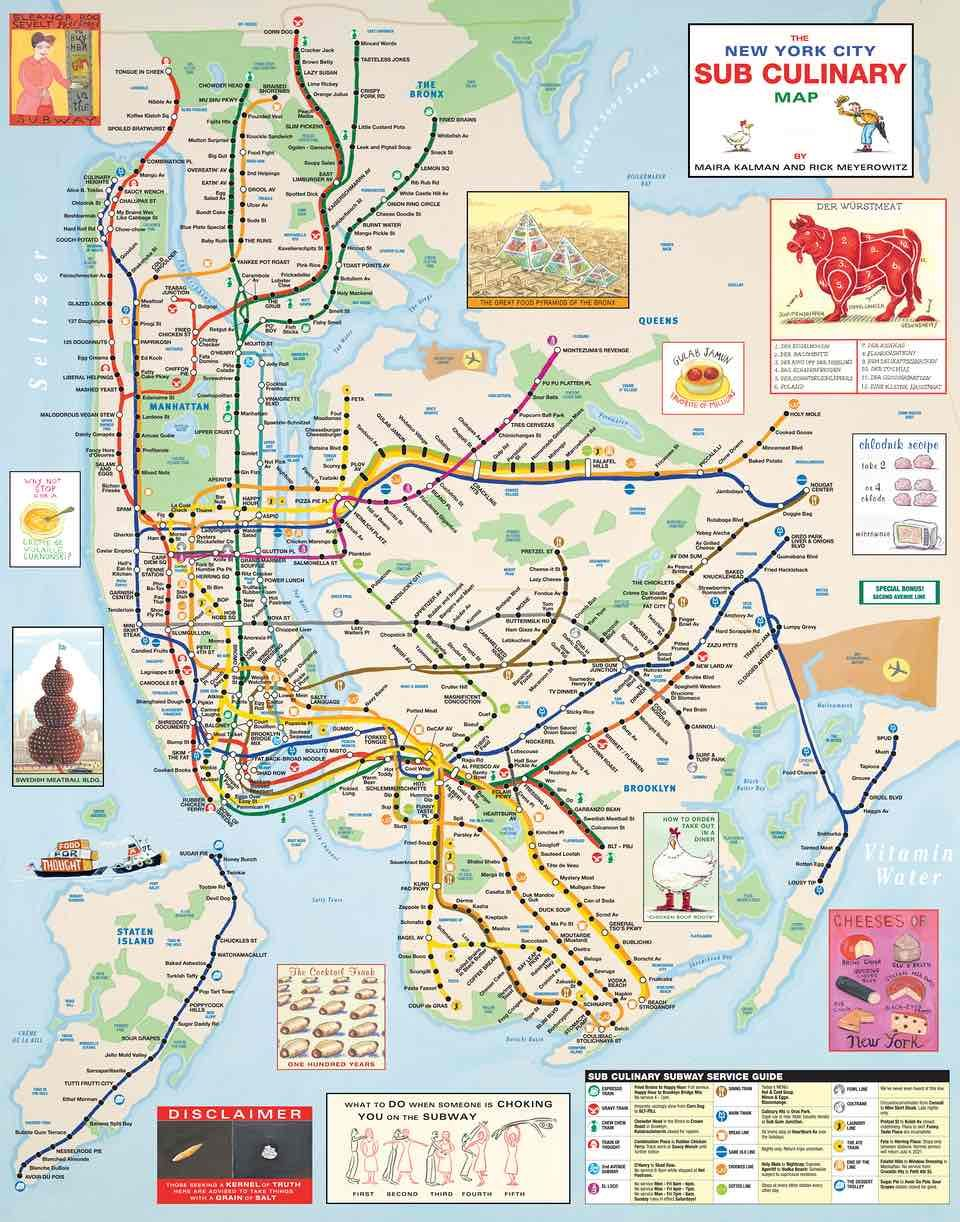 Alternative Nyc Subway Map.Take A Left At Drool Avenue Alternative Nyc Maps In Pictures