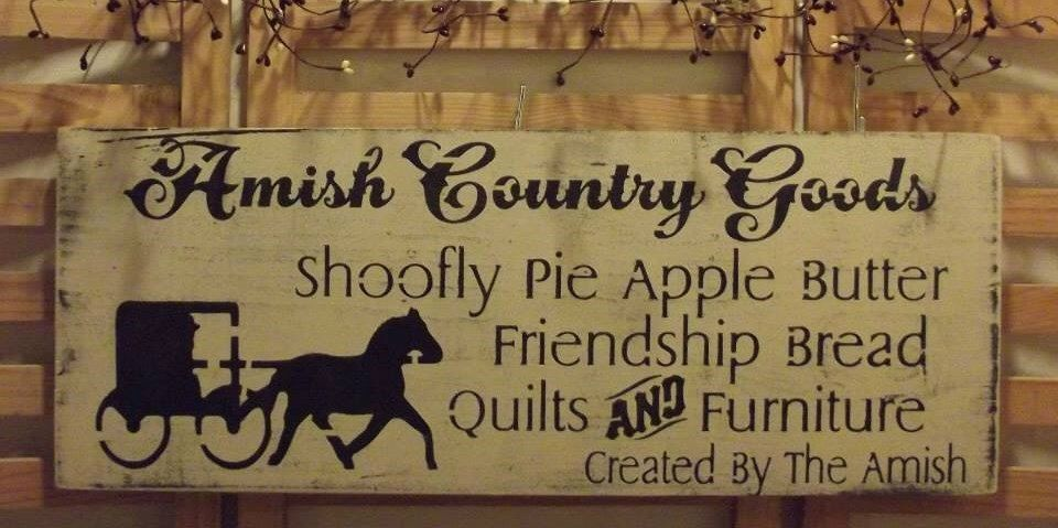 Country Sign .. Amish sign .. wall hanging .. country home decor ...