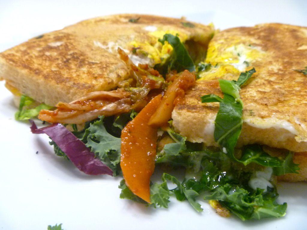 """Chicken in a Basket Grilled """"Kim-Cheese"""" Sandwich"""