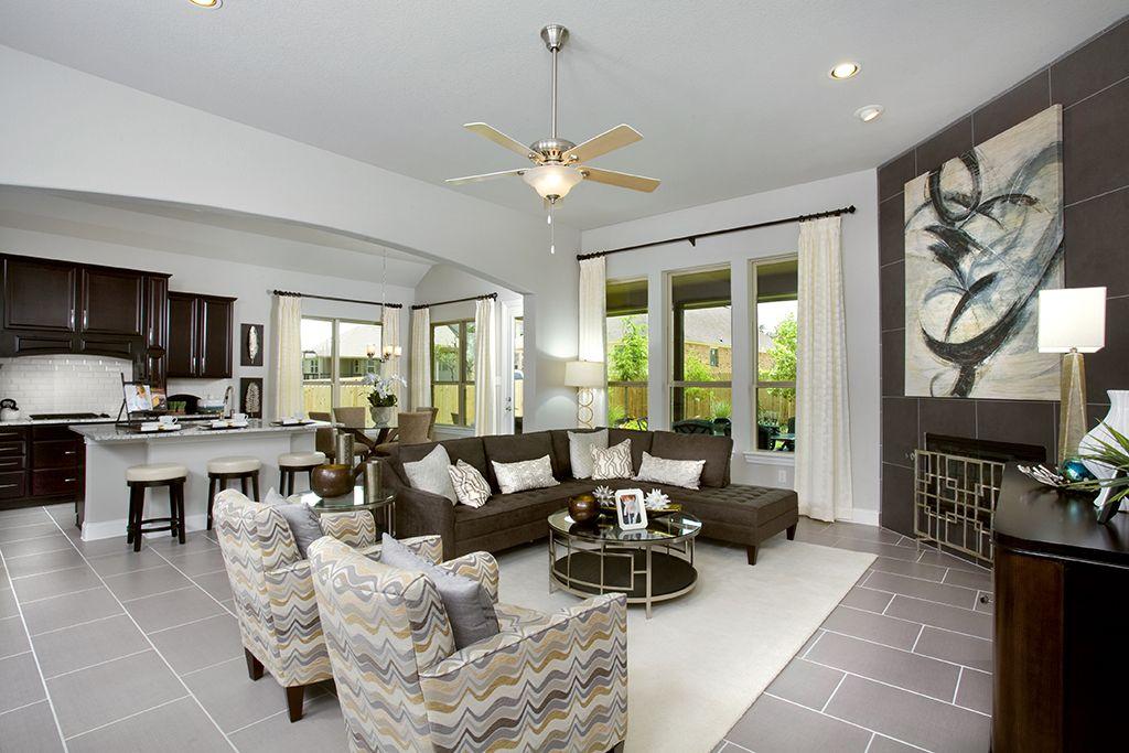 Best Gehan Homes Kitchen Open Floor Plan Grey Granite 400 x 300