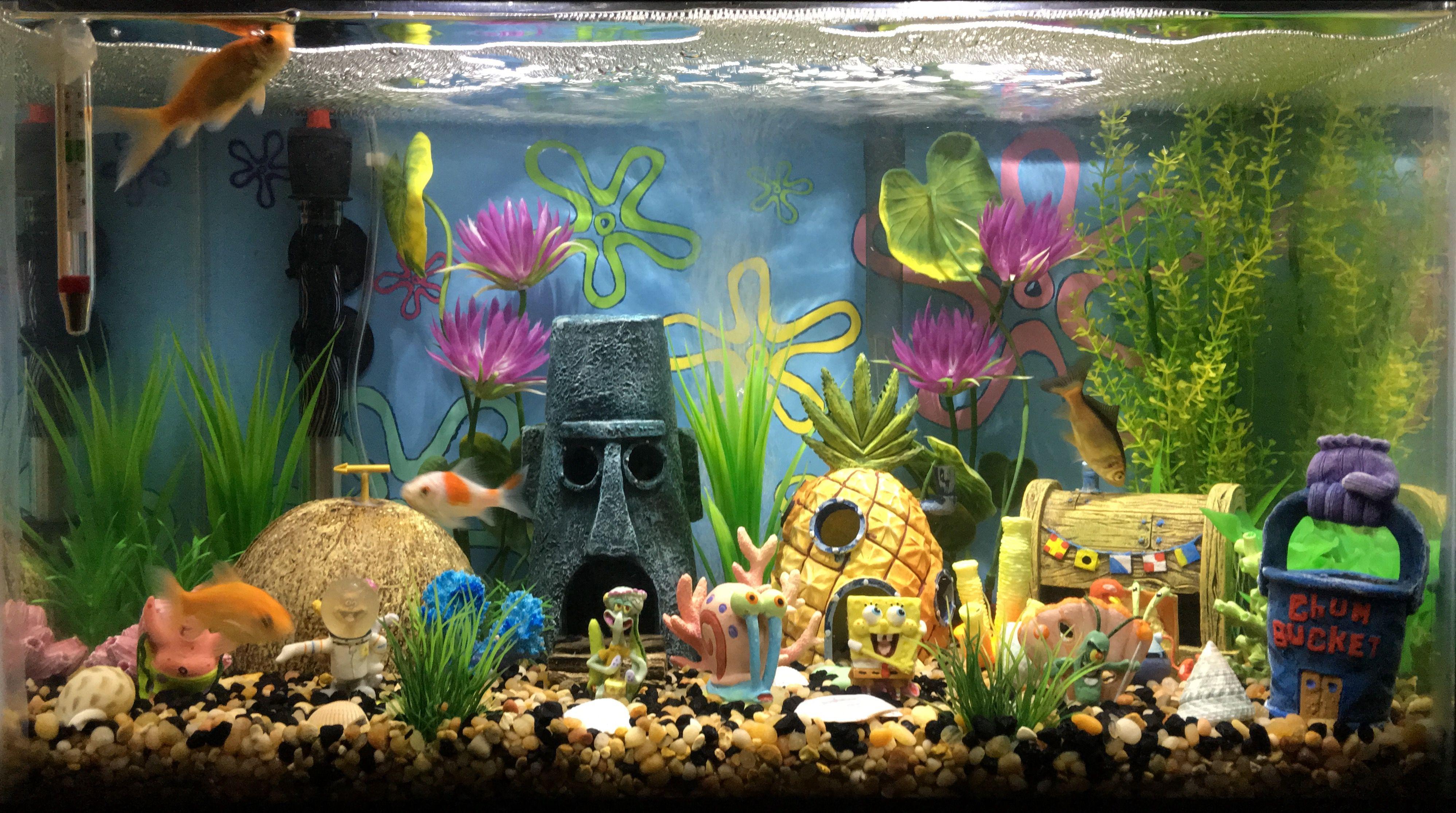 Best Spongebob Decoration For Fish Tanks Fish Tank Themes Fish Aquarium Decorations Fish Tank Decorations
