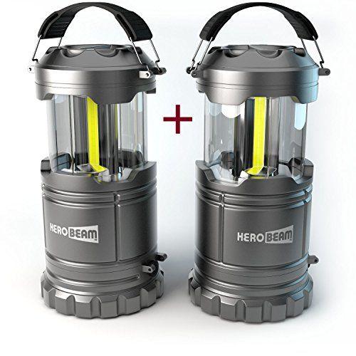 2 X HeroBeam LED Lantern V20 With Flashlight