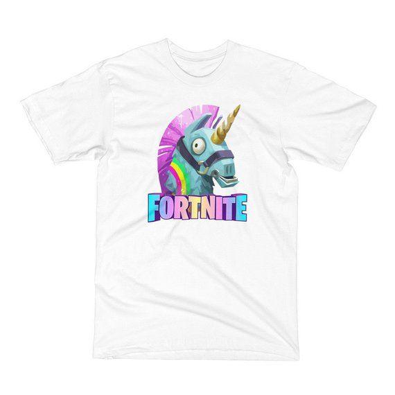 4bac5f5b Fortnite Unicorn Kids T Shirt Battle Royale Video Game Youth Child Size Boy  Girl Funny Tshirt Gamer Shooter Victory