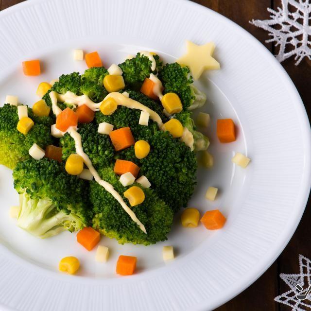 クリスマスにピッタリのツリーに見立てたサラダです。お子さまと一緒に盛り付けをお楽しみください。 - 73件のもぐもぐ - ブロッコリーツリーサラダ by ソラレピ ~シダックスの管理栄養士監修!~