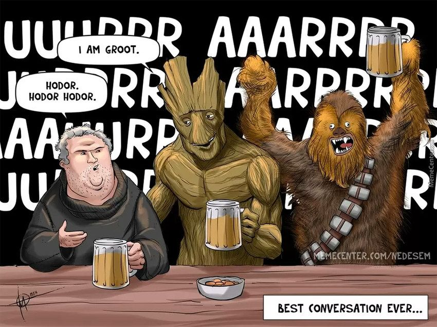 850x637 from http://mightymega.com/wp-content/uploads/2014/09/hodor_groot_chewbacca_l.jpg