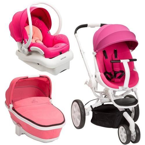 Quinny Moodd Stroller Travel System Pink PassionWhite with ...