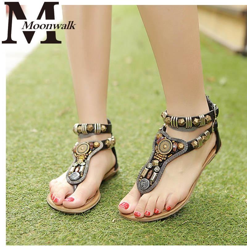 NEW 2014 Summer rome Vintage flip flops fashion women flat sandals shoes women slippers Zip 34-40 J3265
