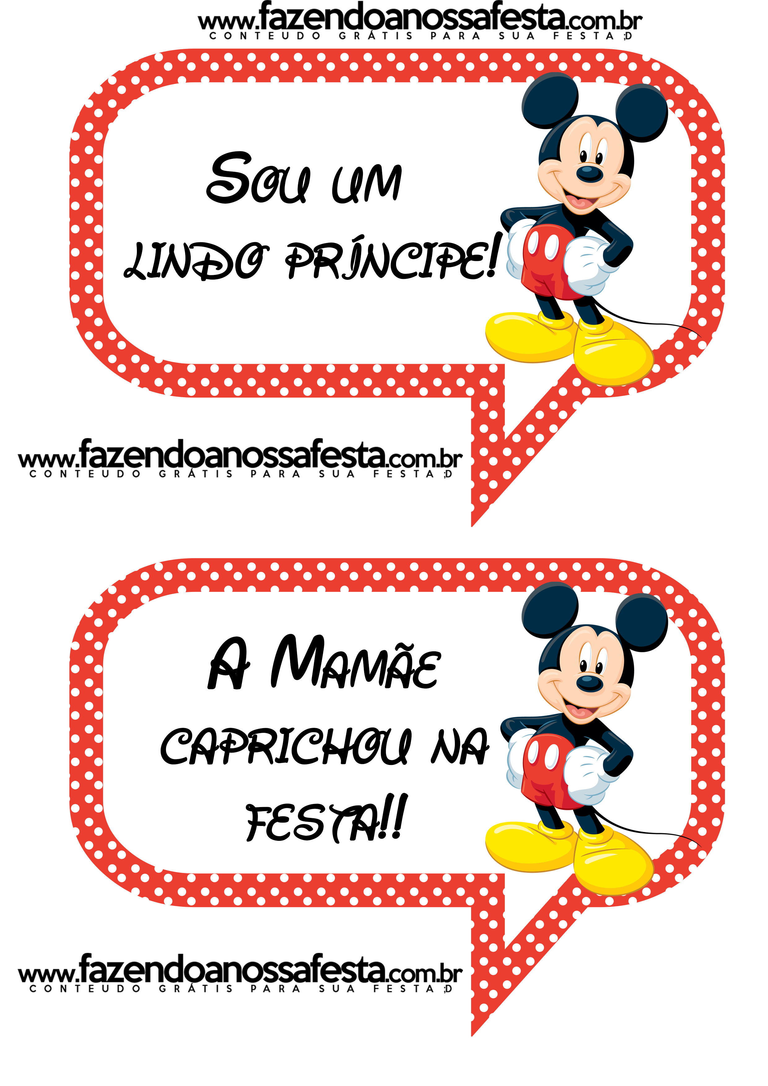 Plaquinhas Divertidas Para Fotos Do Mickey Mouse Festa Mickey