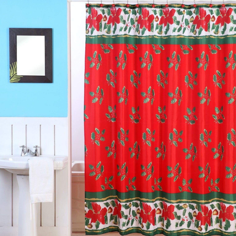 Christmas 13 Piece Shower Curtain Set Christmas Shower Curtains