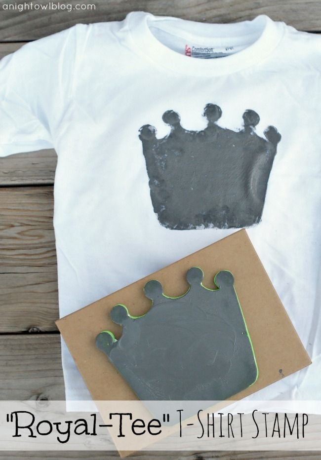 Make Your Own Stamp With This Easy Tutorial To Create A Cool Diy T Shirt The Kids Paint Craft