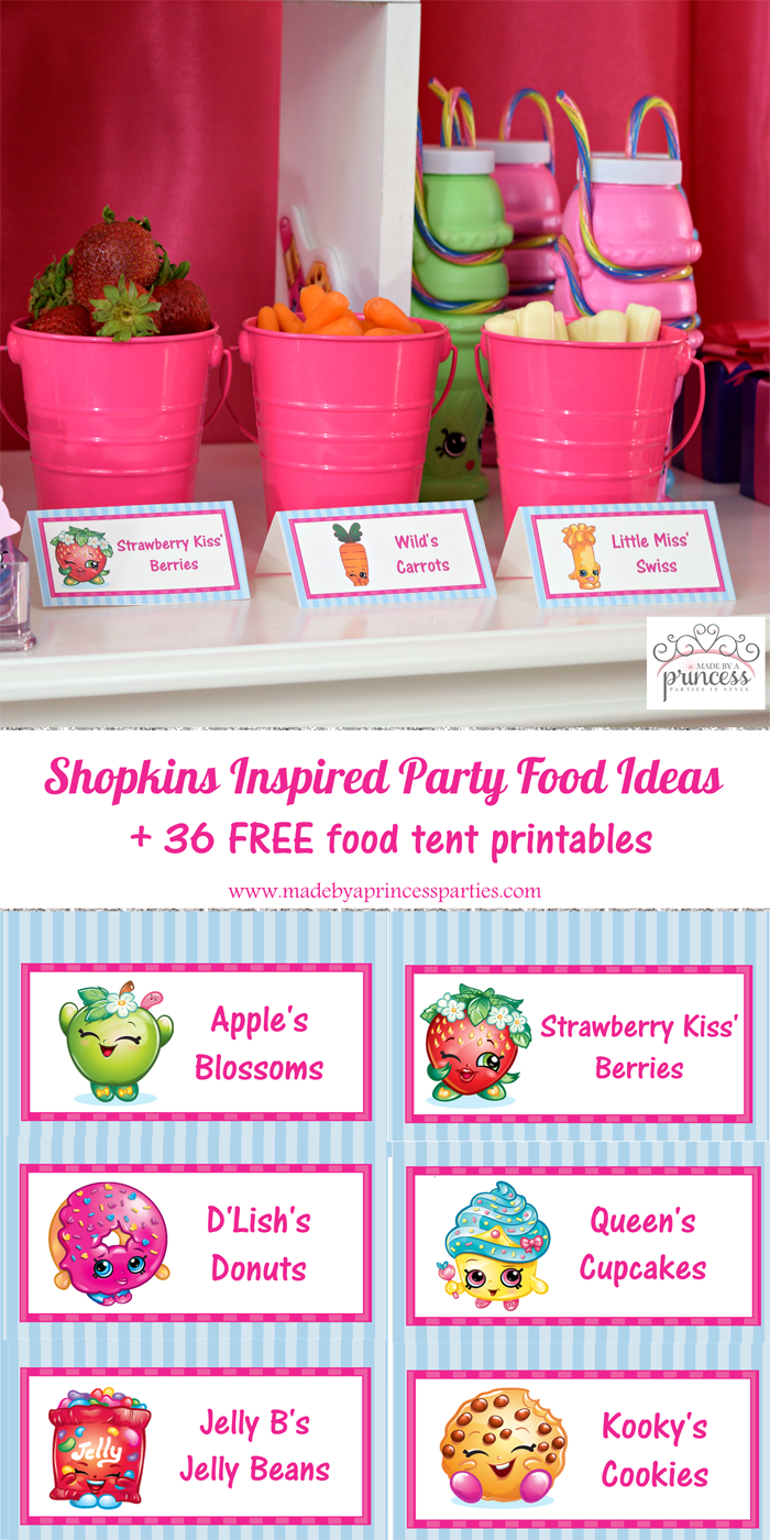 Shopkins Inspired Party Food Tents Free Printables Pin It Party