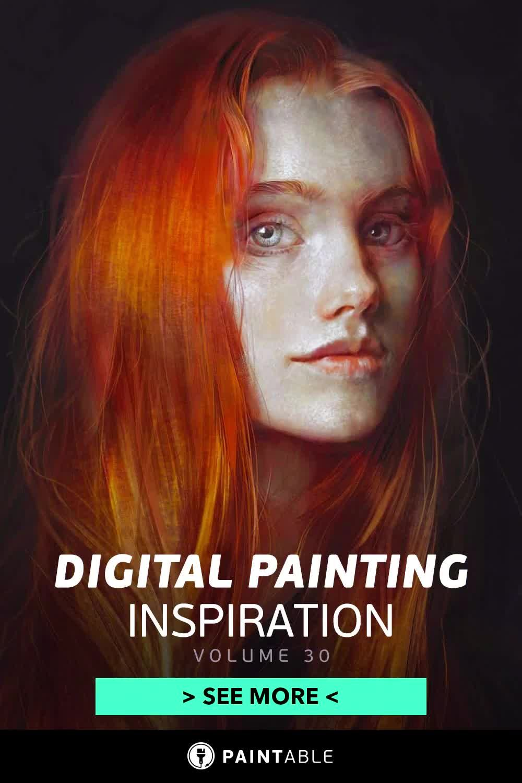 Digital Painting Inspiration Volume 35 Paintable Gallery Video Video In 2020 Digital Painting Digital Painting Portrait Digital Artist