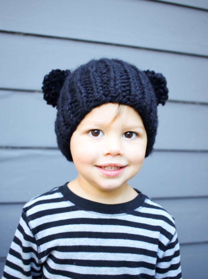 Free Knitting Pattern: Bear Beanie | Pinterest | Gorros