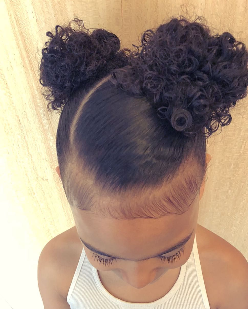 Curly Puffs Curlykidshaircare Curlykids Curlyhair Naturallycurly Naturalkidshairstyle Kids Curly Hairstyles Toddler Hairstyles Girl Lil Girl Hairstyles