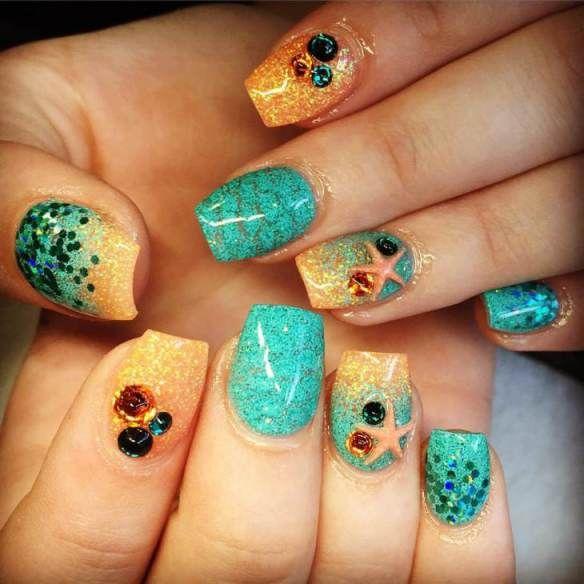 Ocean Nail Art Designs 2017 Summer Nail Art 2018 Pinterest