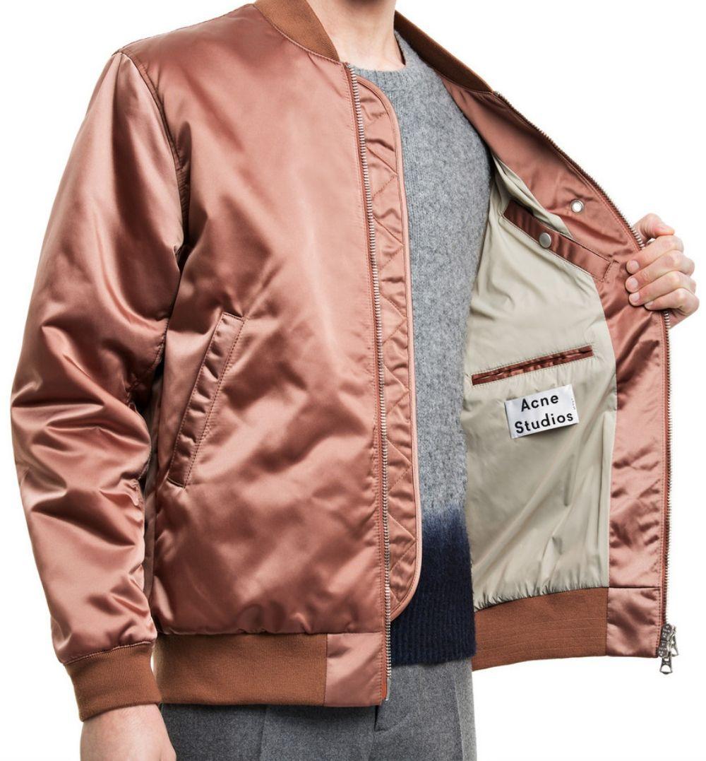 Last Day Of Magic Studded Hearts Pink Satin Bomber Jacket Menswear Bomber Jacket [ 1077 x 1000 Pixel ]