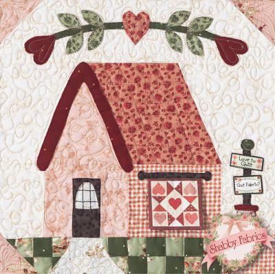 Bonita casa casas patrones de colchas patchwork y - Casas de patchwork ...