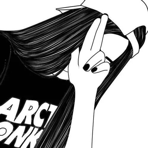 Art Noir Dessin Fille Grunge Musique Ongles