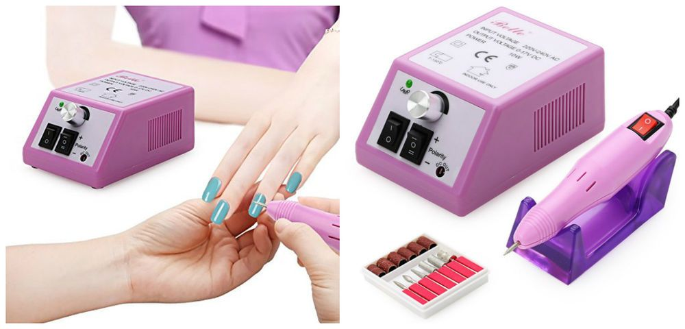 Electric Nail File Drill Professional Manicure Pedicure Machine Kit ...