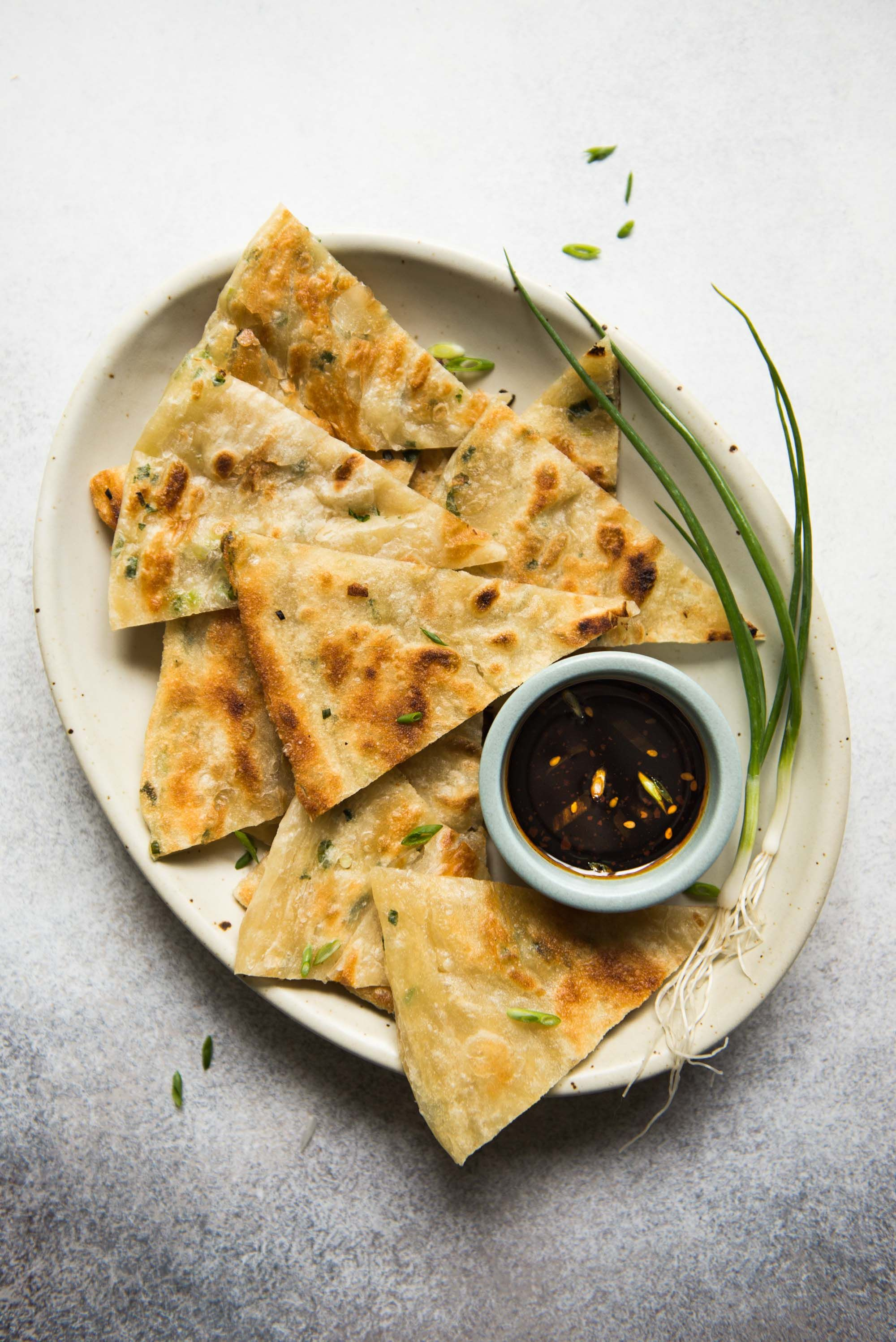 Extra Flaky Scallion Pancakes With Shallots