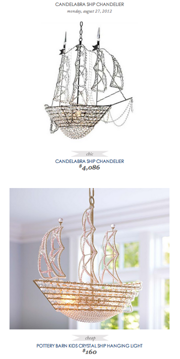 Copy Cat Chic Find Candelabra Ship Chandelier Vs Pottery Barn Kids Crystal Hanging Light