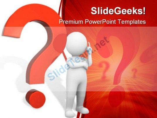 Questions Mark People PowerPoint Template 0910 Presentation Themes - winter powerpoint template