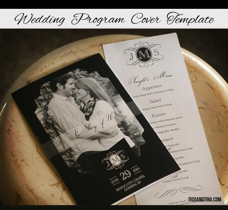 FREE Wedding Program Cover Template | Cover template and Wedding ...
