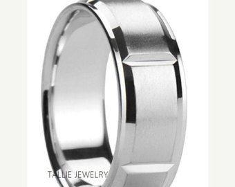 ON SALE Mens Platinum Wedding RingsWomens Wedding BandsMatching