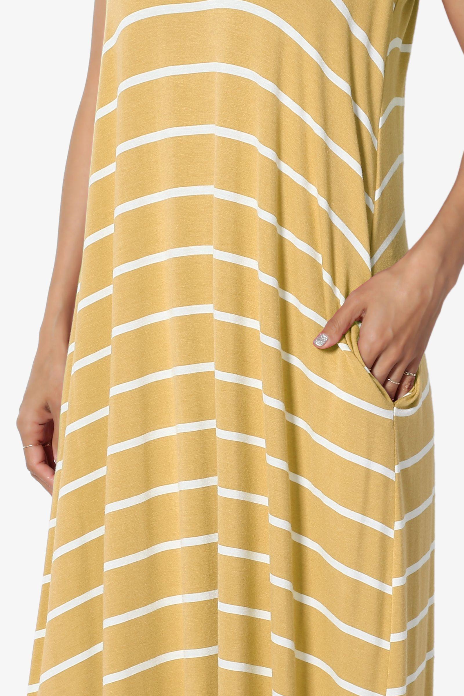 Themogan Themogan Women S S 3x Stripe V Neck Draped Jersey Pocket Cami Long Maxi Dress Walmart Com Long Maxi Dress Maxi Dress Normal Models [ 2400 x 1600 Pixel ]