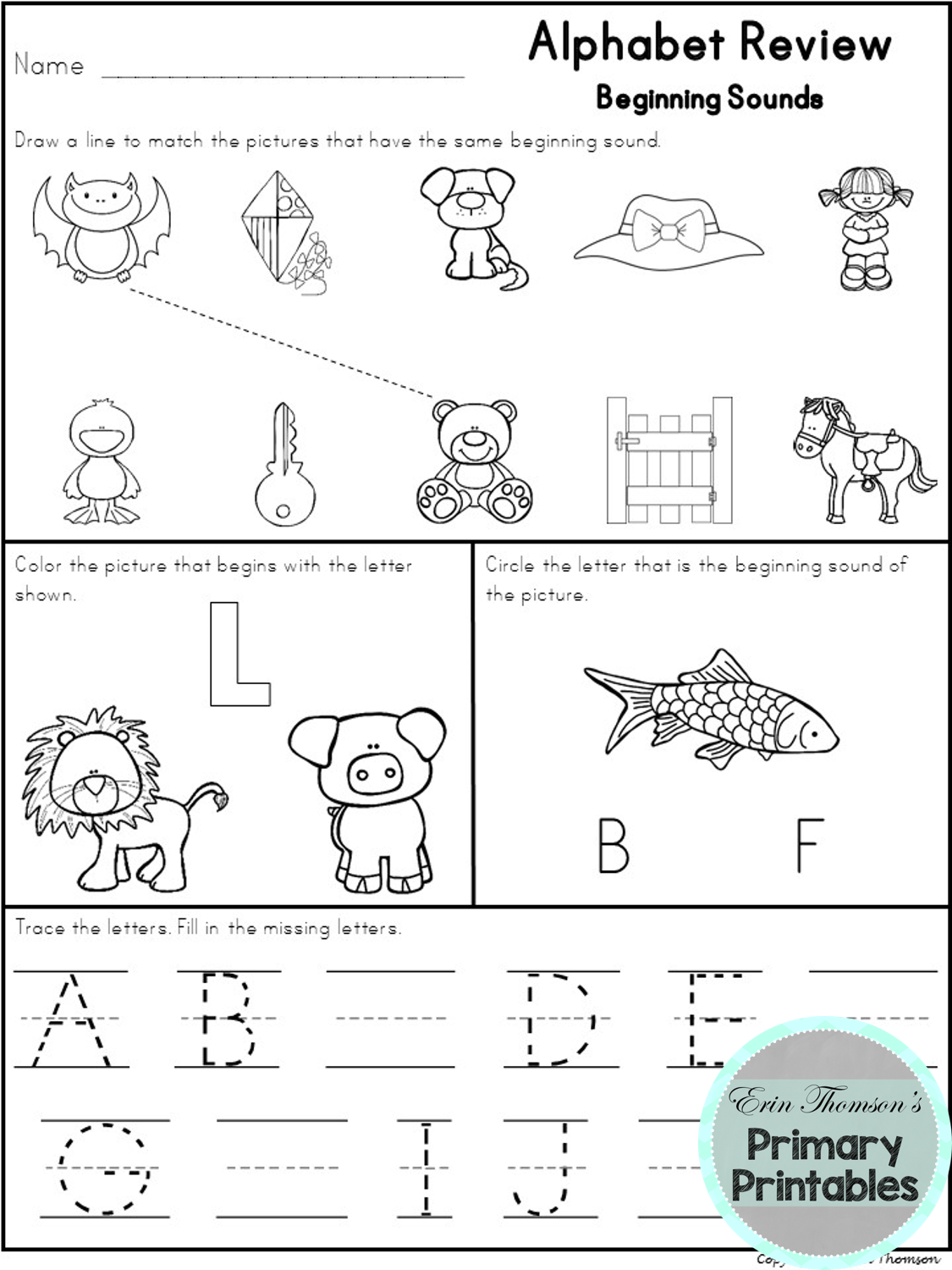 Alphabet Practice And Review Letters And Sounds